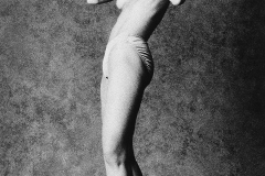 Tony_Ward_Studio_early_work_casting_calls_black_white_model_Paulette_Fallon_boxer_topless