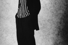 Tony_Ward_Studio_early_work_casting_calls_black_white_model_Phoenix_Alexander_dressed_as_a_man_black_stripped_outfit_fashion