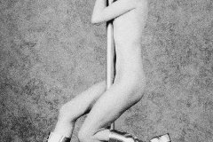 Tony_Ward_Studio_early_work_casting_calls_black_white_model_Russian_nude_pole_dancer_silver_boots