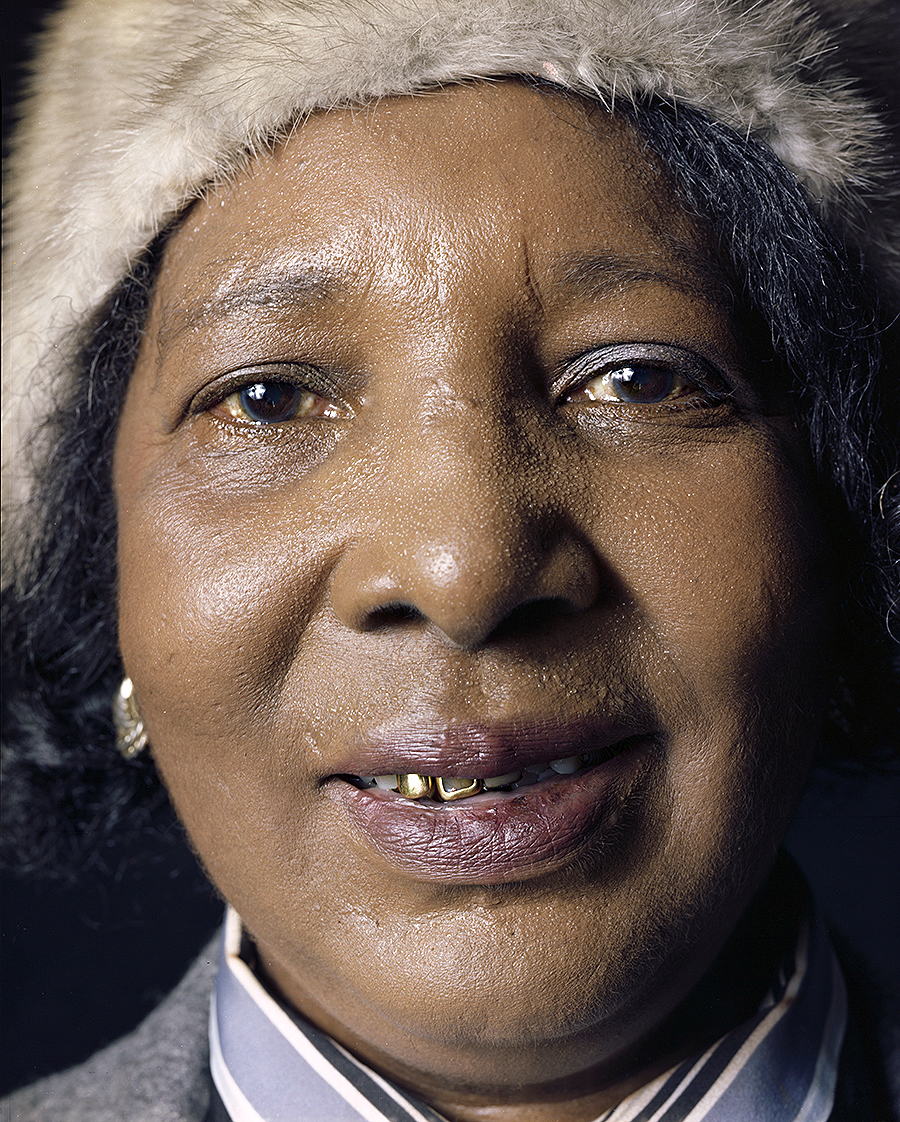 Tony_Ward_photography_early_work_house_of_prayer_portraits_woman_sweating_gold_tooth_smile
