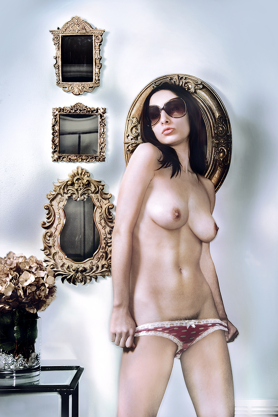 Tony_Ward_Studio_fashion_photography_Model_isabella_Reneaux_nudes_nudity_erotica_fashion_lingerie_unshaven_sunglasses_underwear