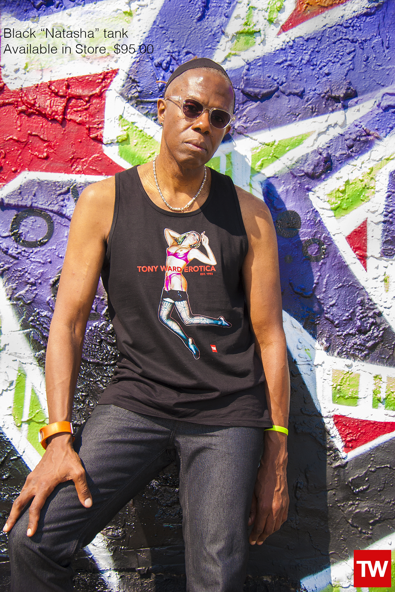 Tony_Ward_Studio_e_commerce_store_t-shirts_black_Natasha_tank_sale_model_Mikel_Elam