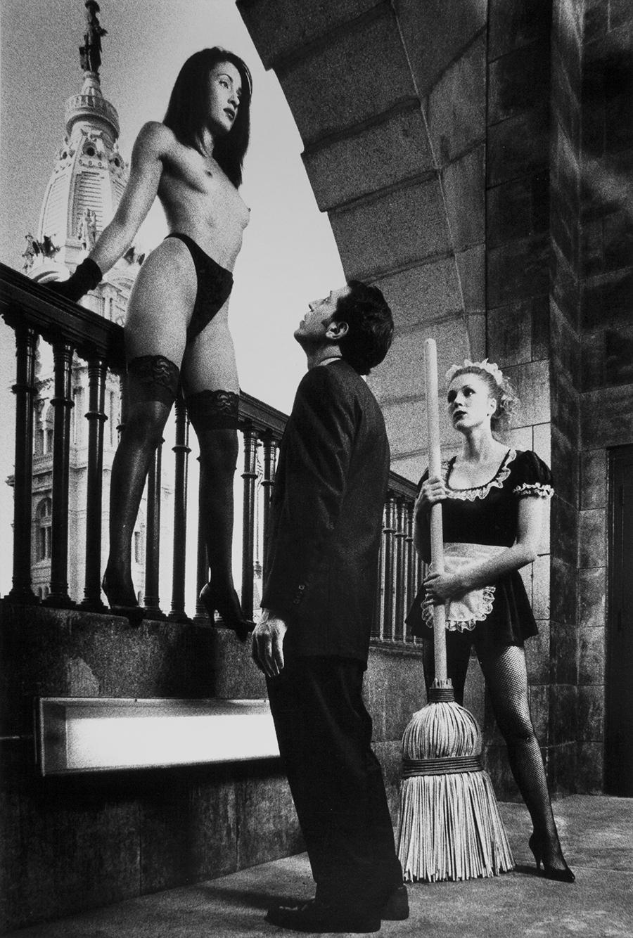 Tony_Ward_early_work_tableaux_vivants_city_hall_balcony_view_nude_maid_executive_fantasy