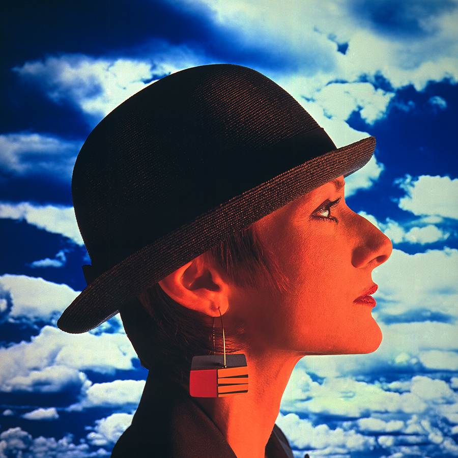 Tony_Ward_early_work_composites_1980's_surrealism_women's_hats_earrings_fashion_style_beautiful_clouds_sunset