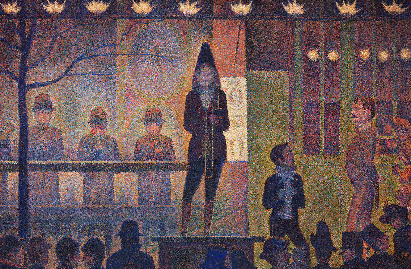 Tony_Ward_Studio_featured_painting_Georges_Seurat_Circus_sideshow_Music_kevin_stewart_