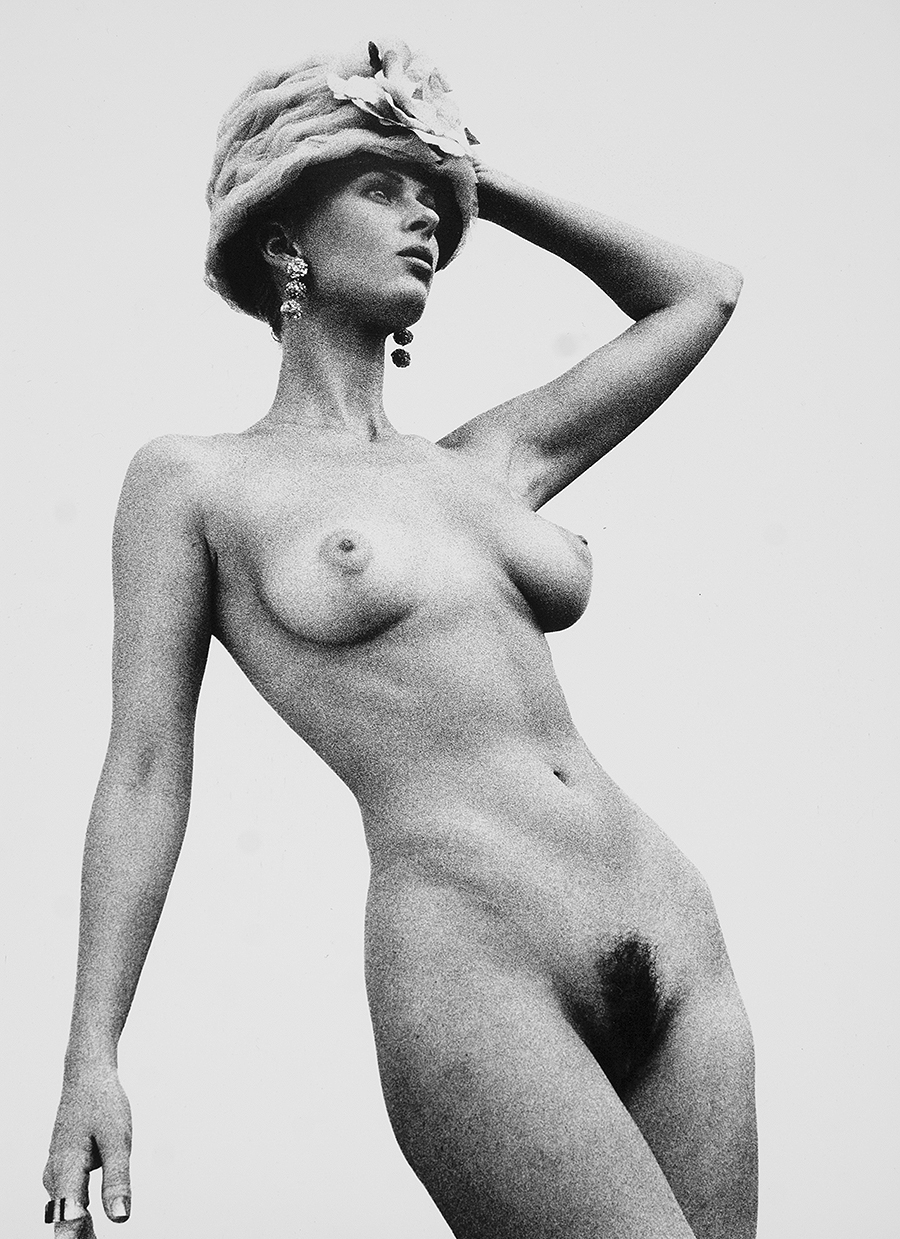 Tony Ward Erotica fashion nudes unshaven natural breasts vintage hats