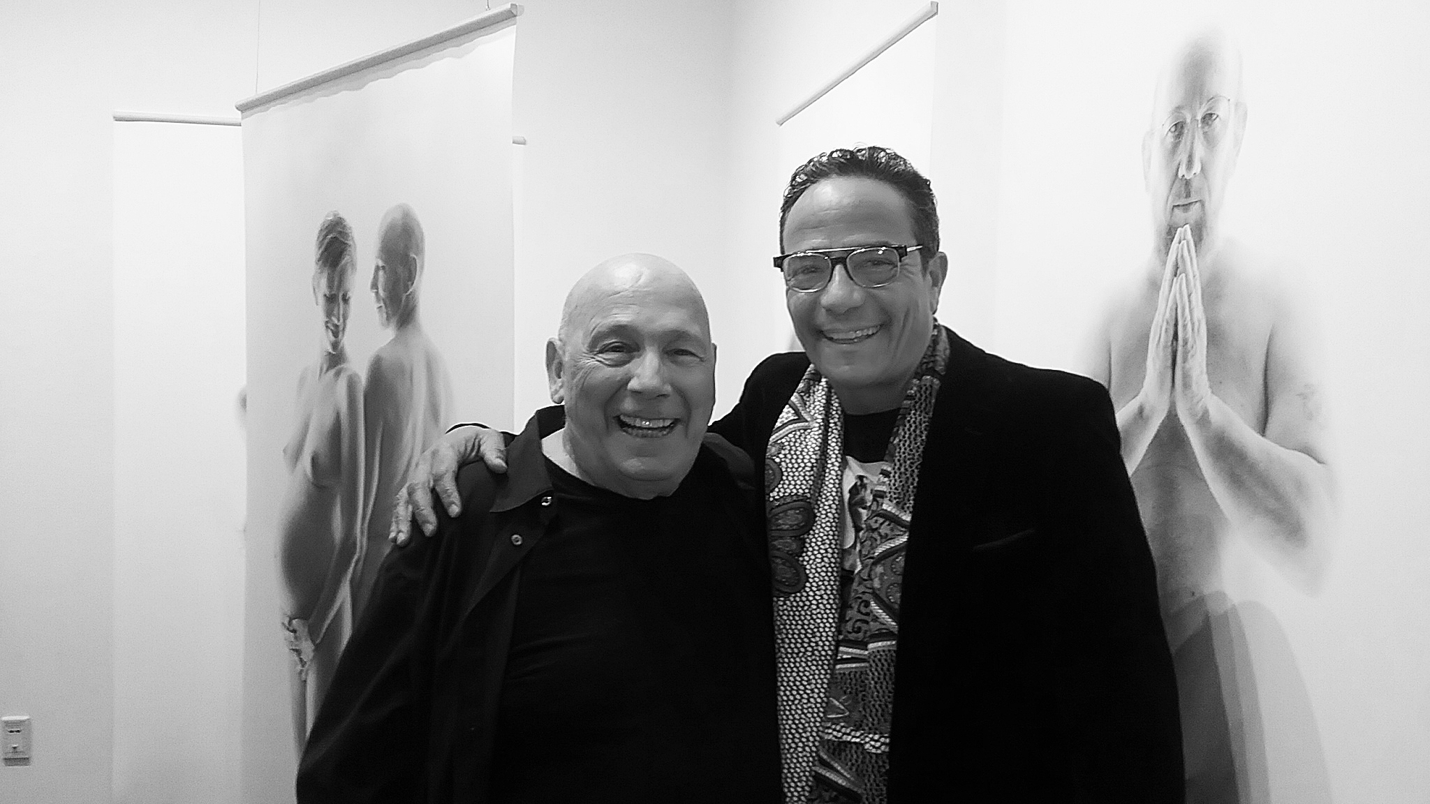 George Krause and Tony Ward at Introspective opening reception, UArts. March 28, 2018.