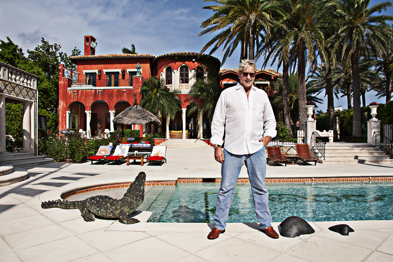 Thomas Kramer at Home on Fisher Island, Miami Florida
