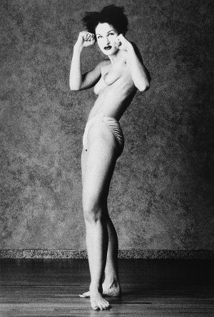 Tony_Ward_photography_early_work_portraiture_casting_call_main_muse_model_Paulette_Fallon_boxer_pose.jpg