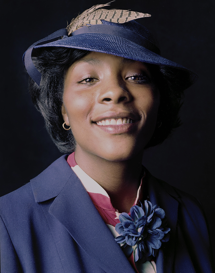 Tony_Ward_photography_early_portraits_house_of_prayer_1980_woman_with_feathered_hat_beautiful_black_women