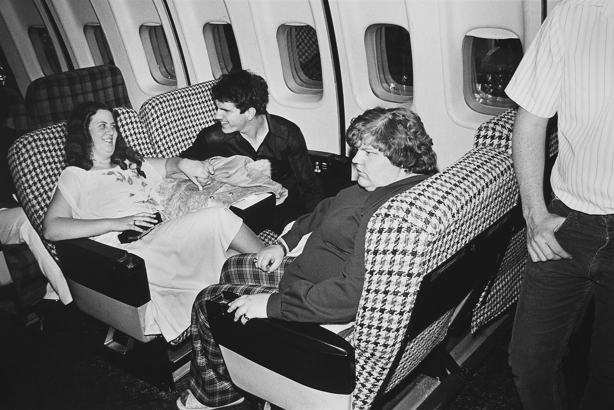 Tony_Ward_photography_early_work_Night_Fever_portfolio_1970's_erotic_dancing_couples_fat_women_love_airplane_seating