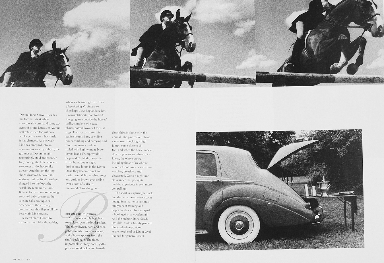 Tony_Ward_photography_devon_horse_show_documentary_Philadelphia_magazine_1996_Amy_Donahue_writer_carriage_climb_rolls_royce_picnic_horse_jumping