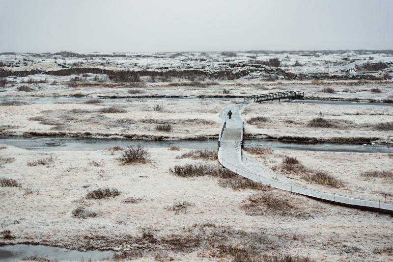 Tina-Iceland-Travel-Winter-Bridge-Ice-Frozen-River-Person