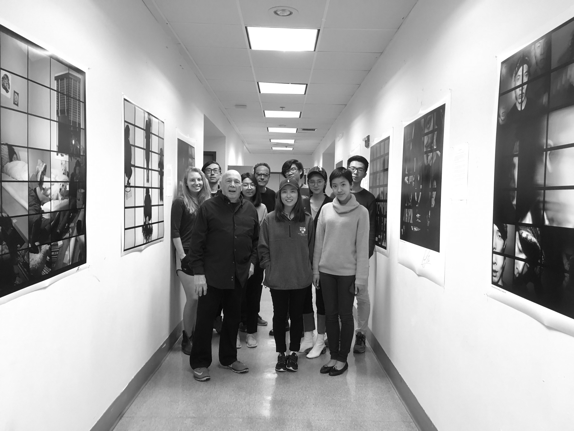 George Krause with Photography Students at UPenn